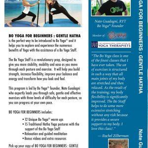 Bo Yoga for Beginners Gentle Hatha DVD Back Cover