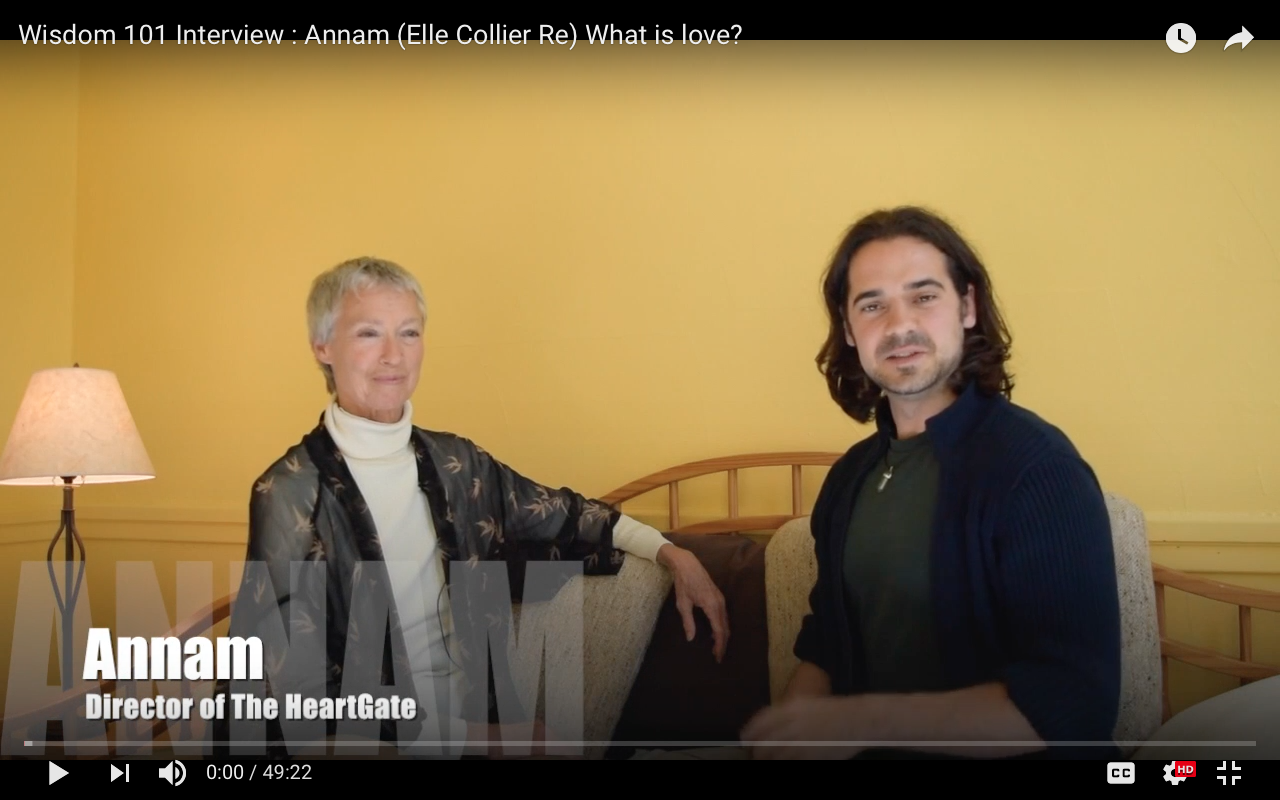 Wisdom 101 Interview : Annam (Elle Collier Re) What is love?