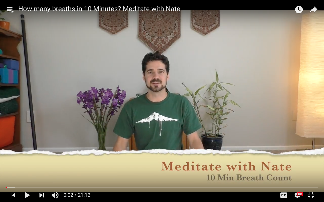 How many breaths in 10 Minutes? Meditate with Nate