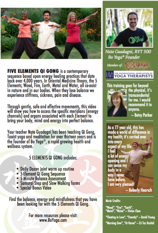 5 Elements Qi Gong Dvd Or Online Course Bo Yoga
