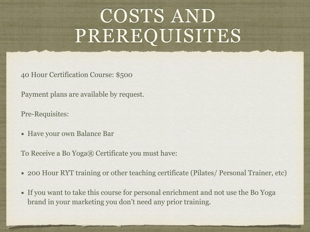 2019 Bo Yoga Certified Instructor Course Presentation 10 Bo Yoga