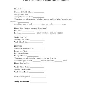 Bo Yoga Instructor Course Packet The Numbers