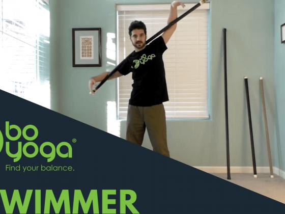 Bo Yoga Swimmer Pose